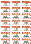 Prince Edward Island Flag Stickers - 21 per sheet